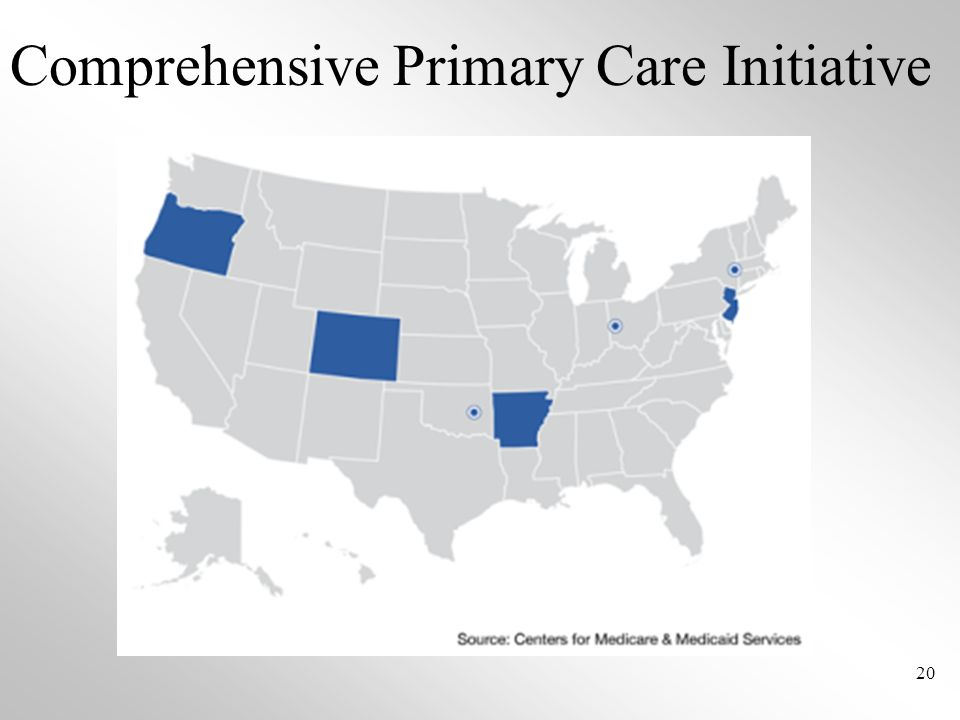 Comprehensive Primary Care Initiative 20