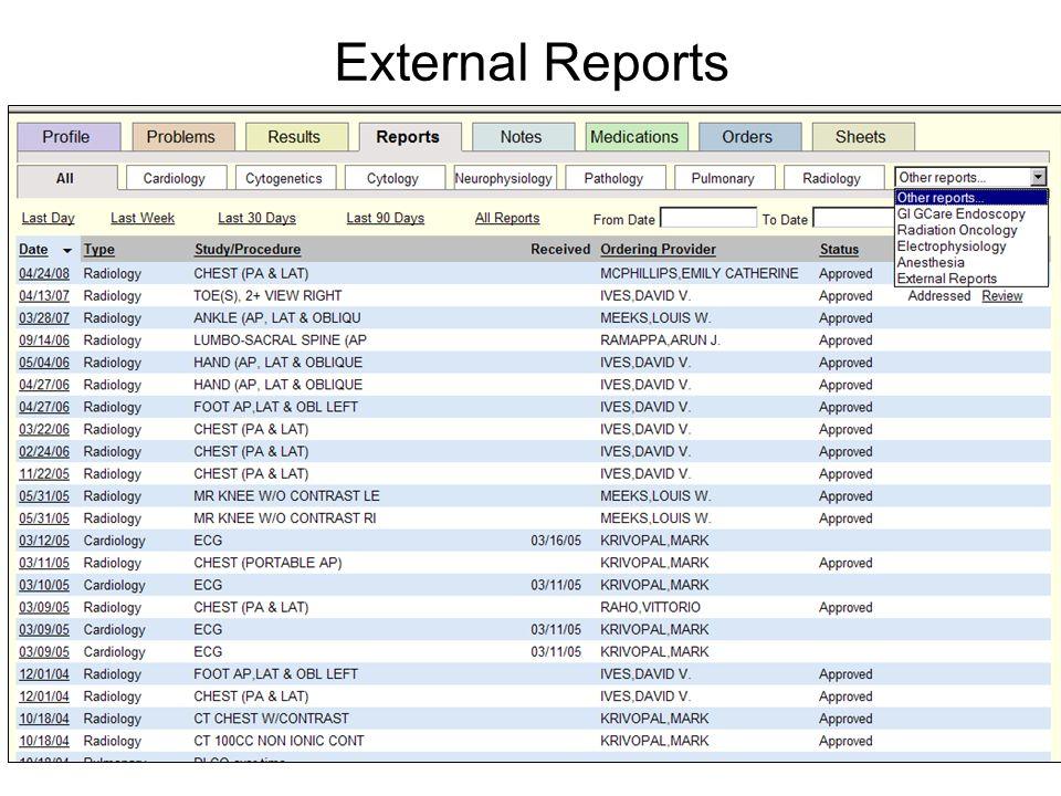 External Reports