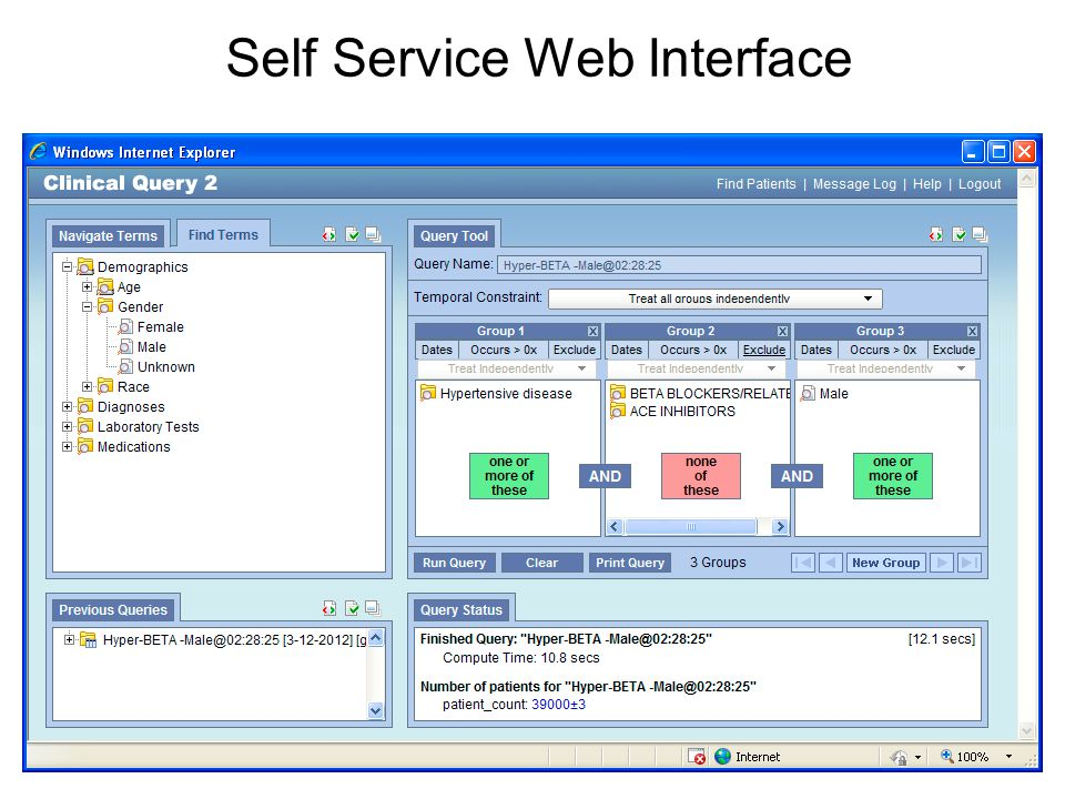 Self Service Web Interface