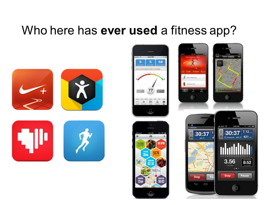 Who here has ever used a fitness app