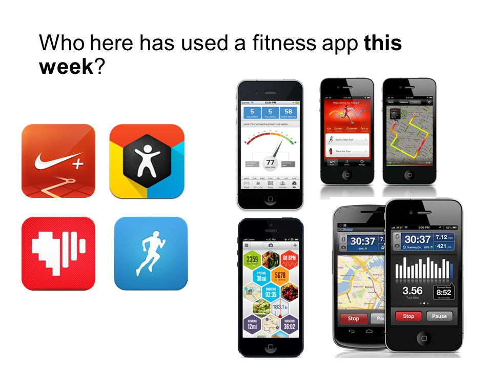 Who here has used a fitness app this week