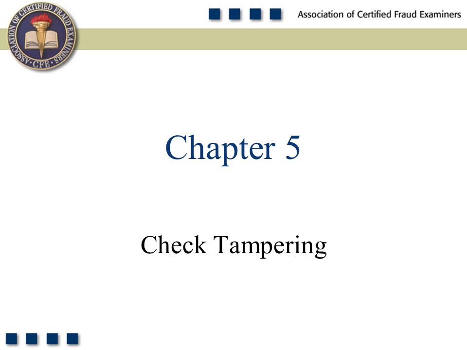 1 Check Tampering Chapter 5