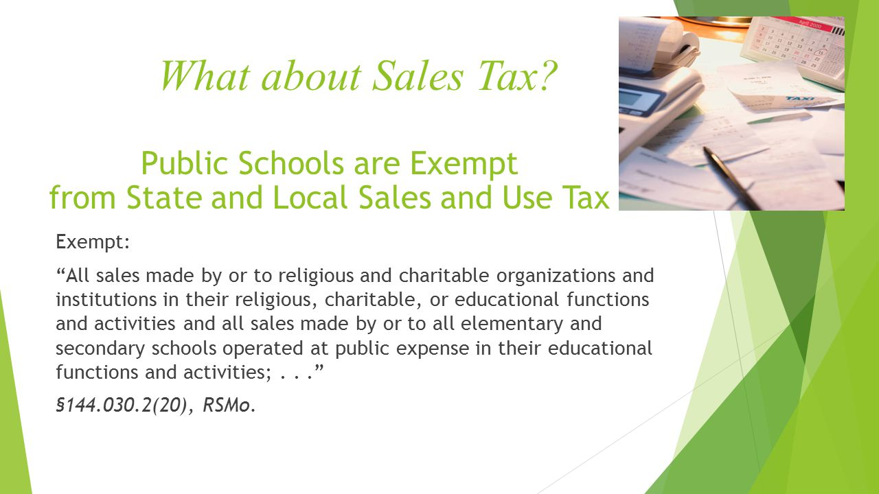 What about Sales Tax.