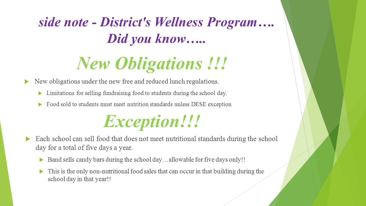 side note - District s Wellness Program…. Did you know…..