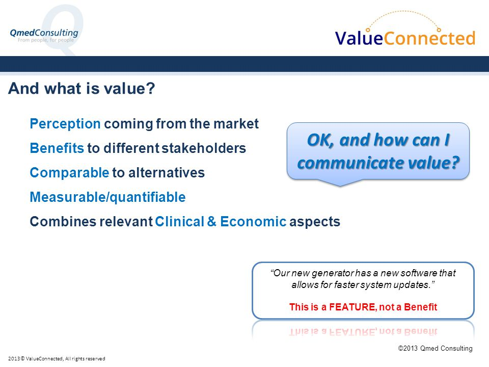 And what is value.