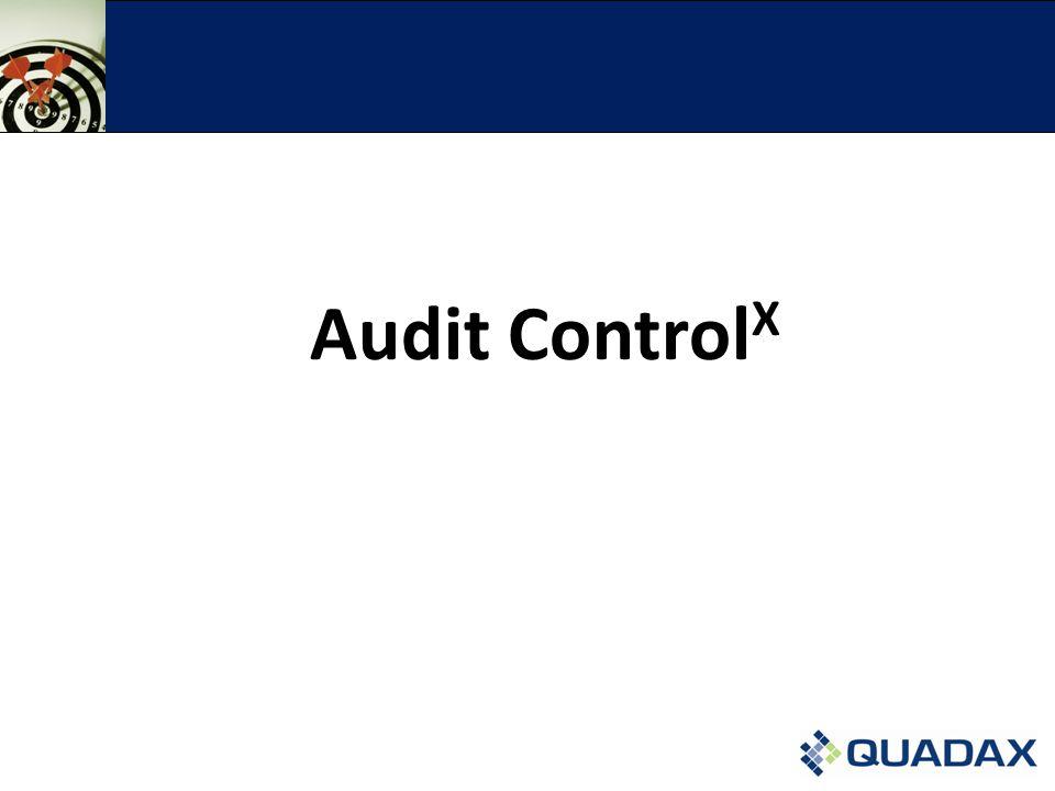 Audit Control X