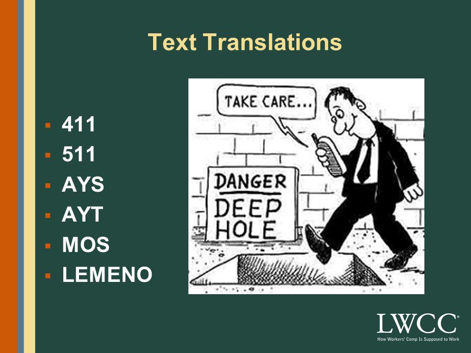 Text Translations  BBL  BBIAM  L8R  L8RG8R  MTFBWU