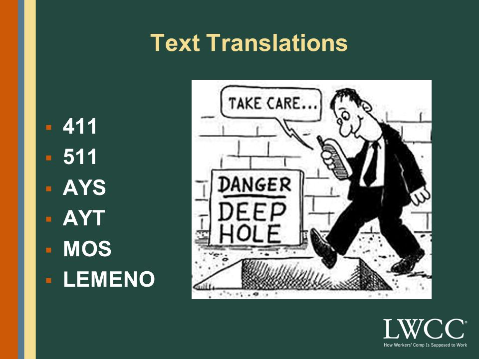 Text Translations  411  511  AYS  AYT  MOS  LEMENO