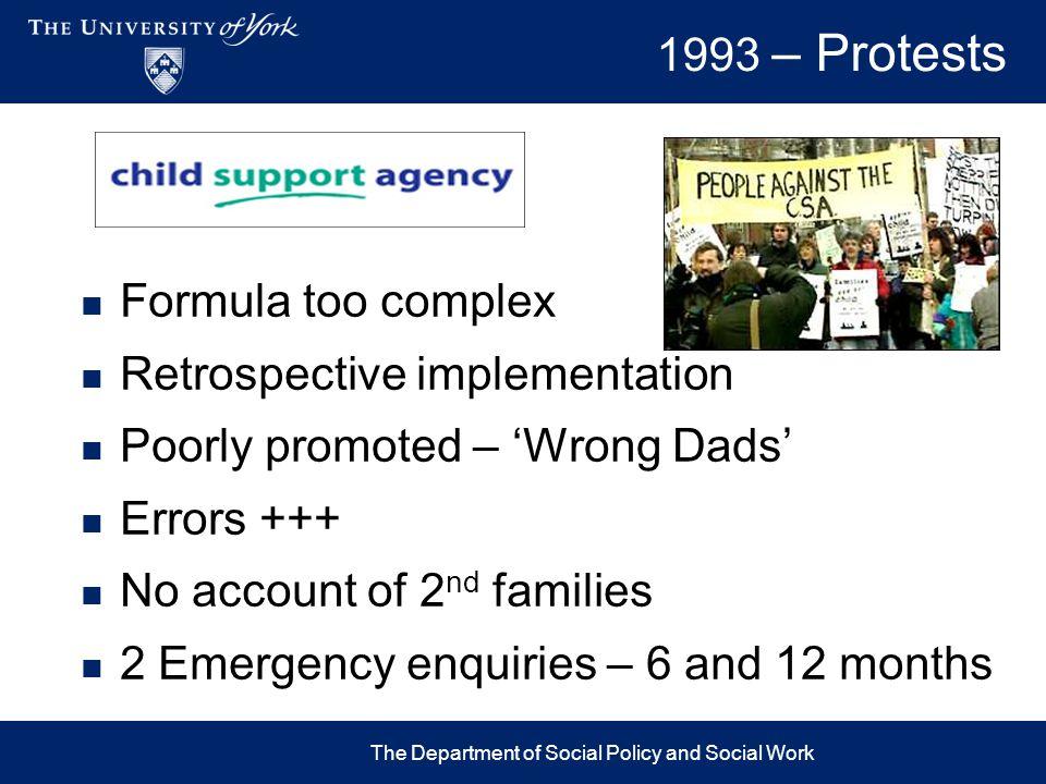 Problems Pre CSA1993 -1997200320102012-17 Courts & DSS CSA - ChaosCSA – 1 & 2 Chaos CSA1 & 2 & CMEC CSA Closed Arrears ?.