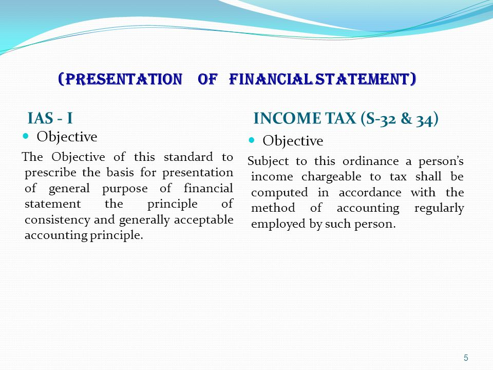 IAS Relating to Tax Law45