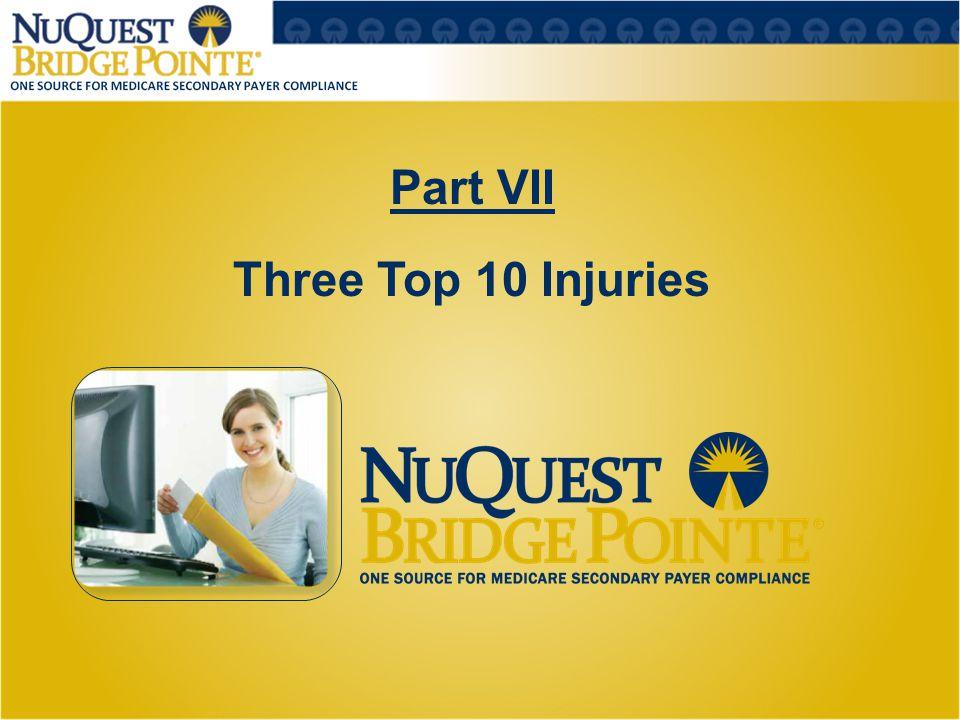 Part VII Three Top 10 Injuries 26