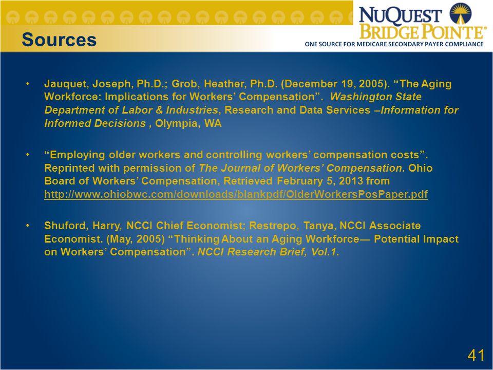 Sources Jauquet, Joseph, Ph.D.; Grob, Heather, Ph.D.