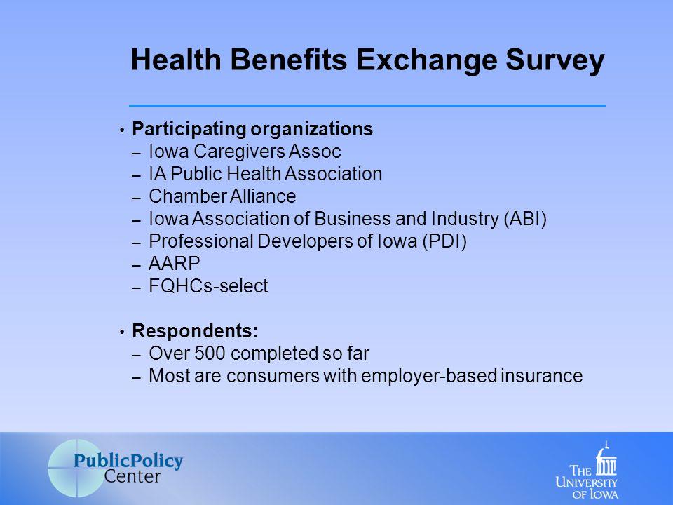 Participating organizations – Iowa Caregivers Assoc – IA Public Health Association – Chamber Alliance – Iowa Association of Business and Industry (ABI