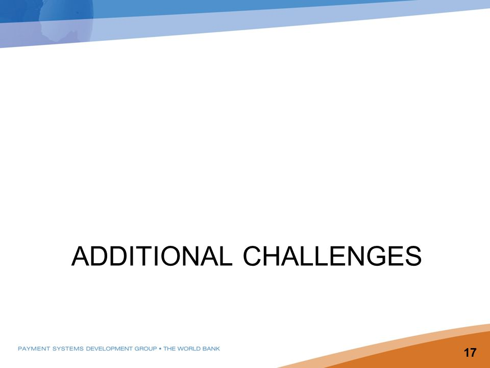 ADDITIONAL CHALLENGES 17