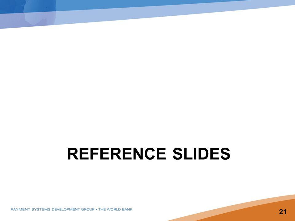 REFERENCE SLIDES 21