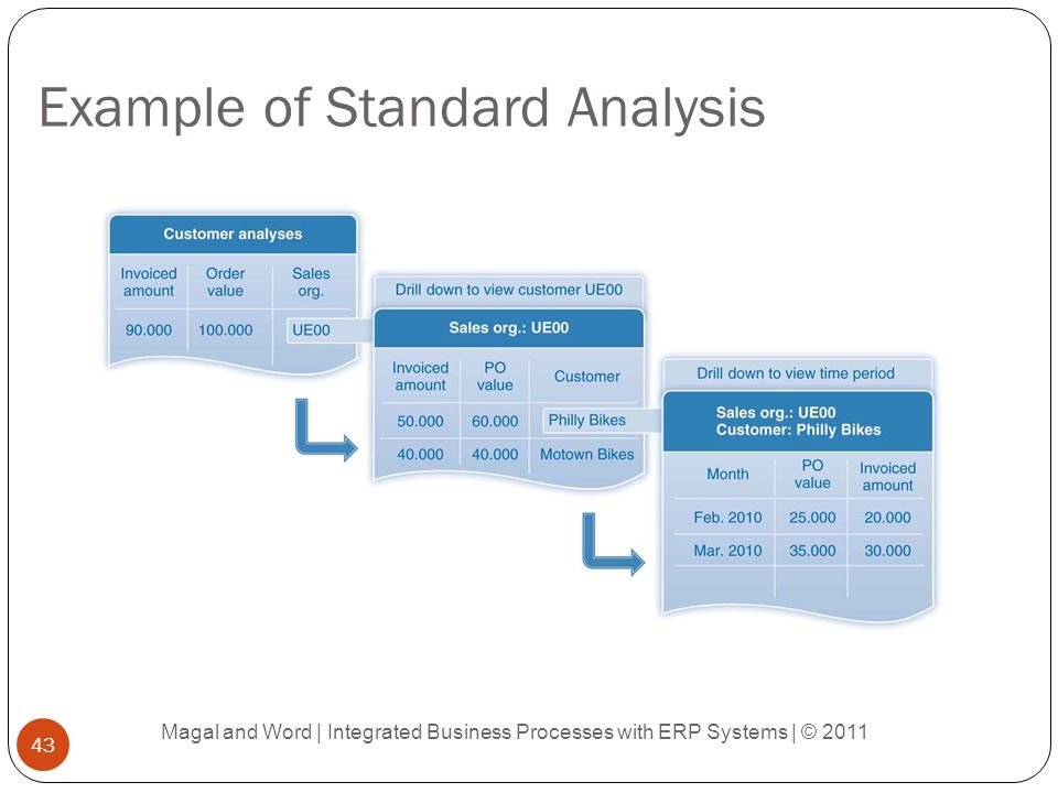 Example of Standard Analysis Magal and Word | Integrated Business Processes with ERP Systems | © 2011 43