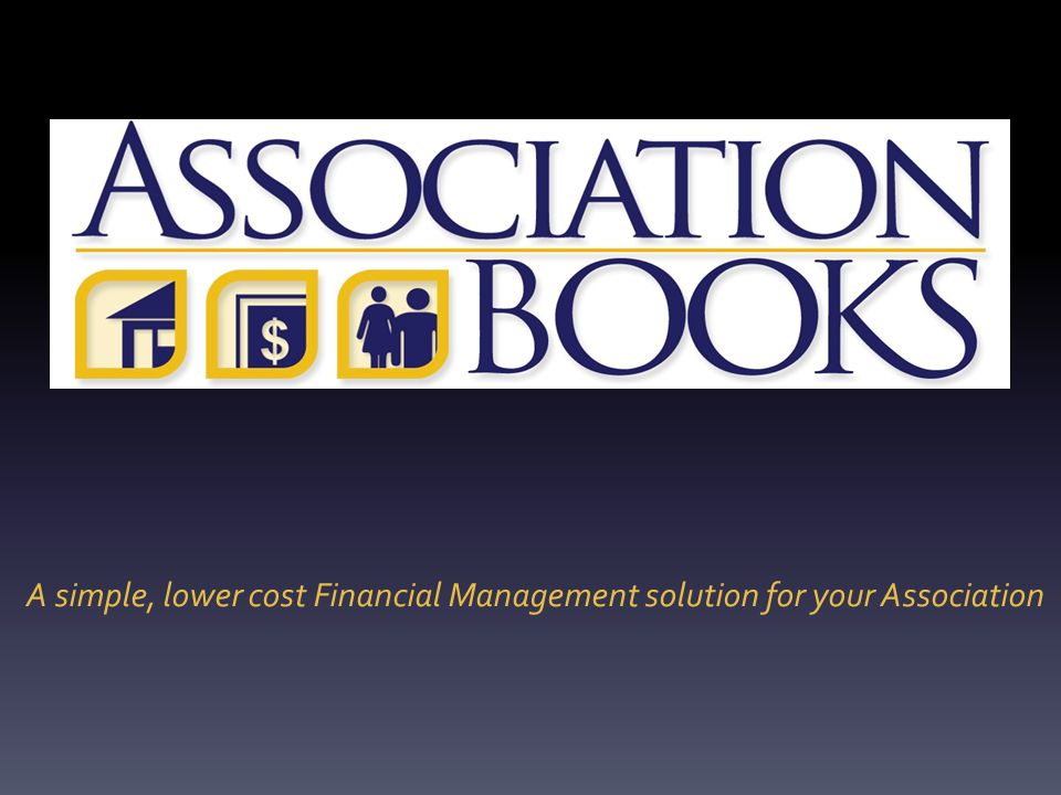 A simple, lower cost Financial Management solution for your Association