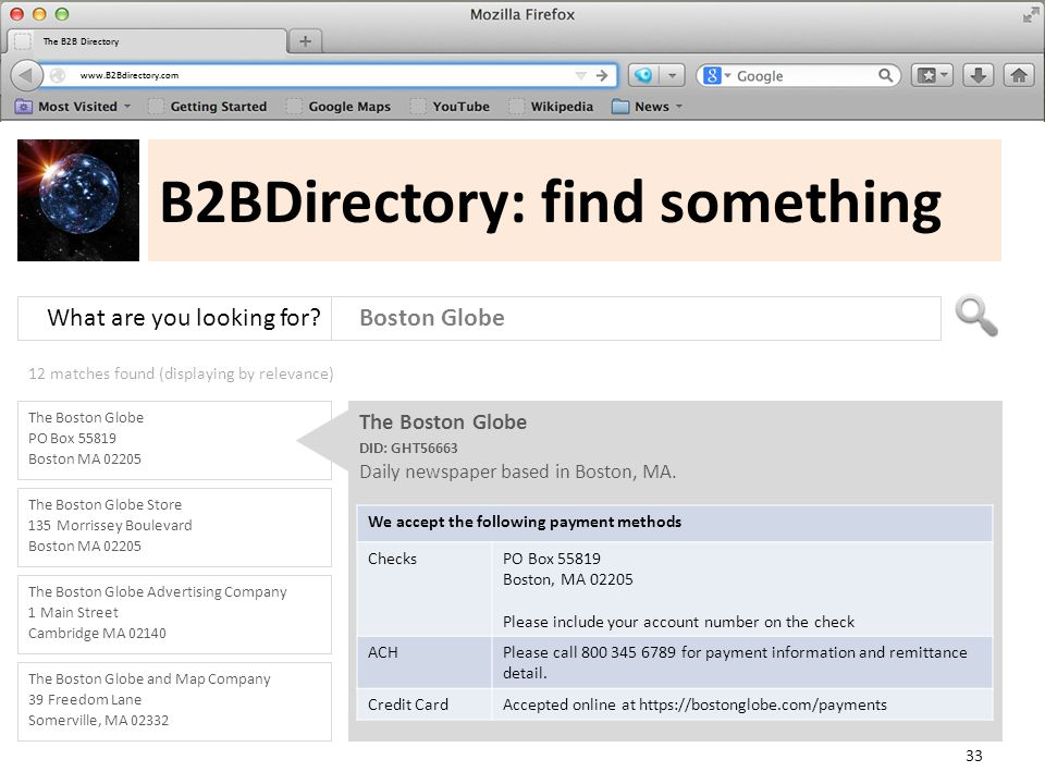 www.B2Bdirectory.com The B2B Directory B2BDirectory: find something What are you looking for.