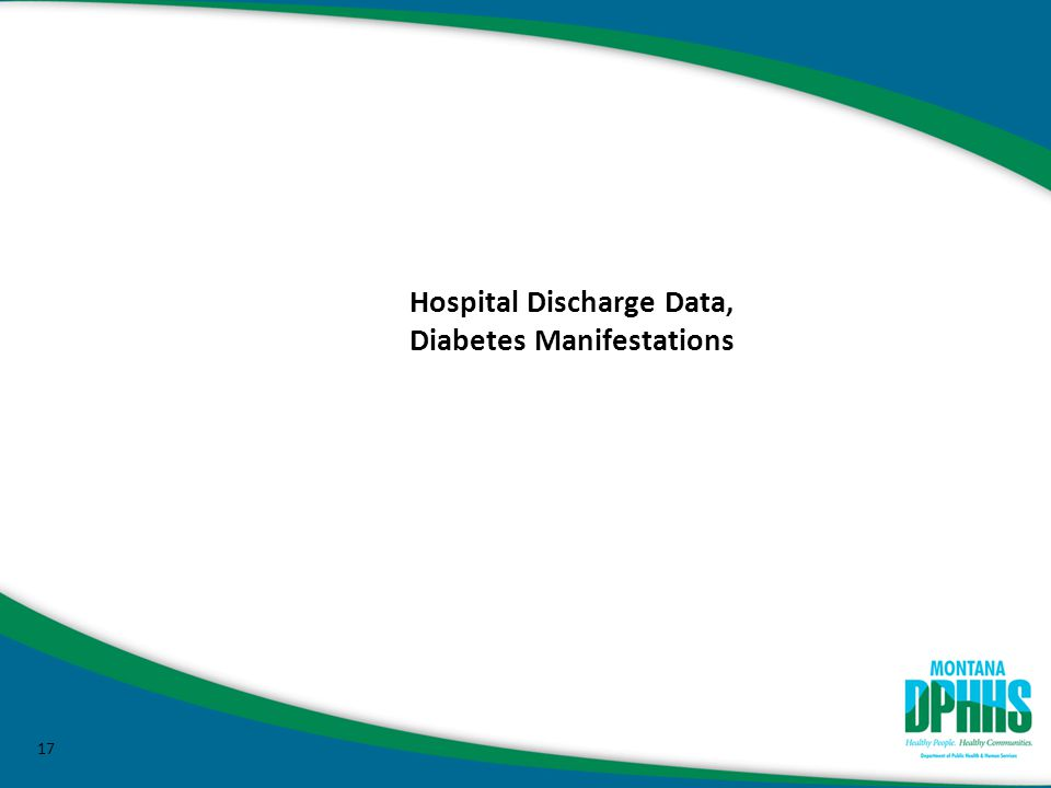 17 Hospital Discharge Data, Diabetes Manifestations