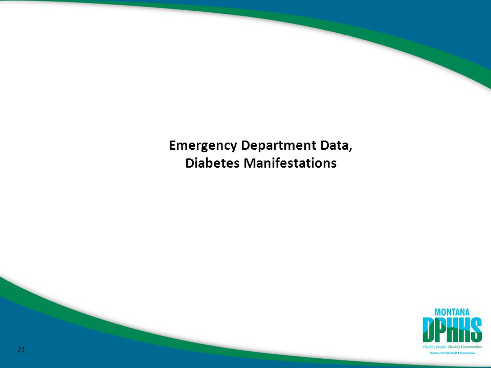 21 Emergency Department Data, Diabetes Manifestations
