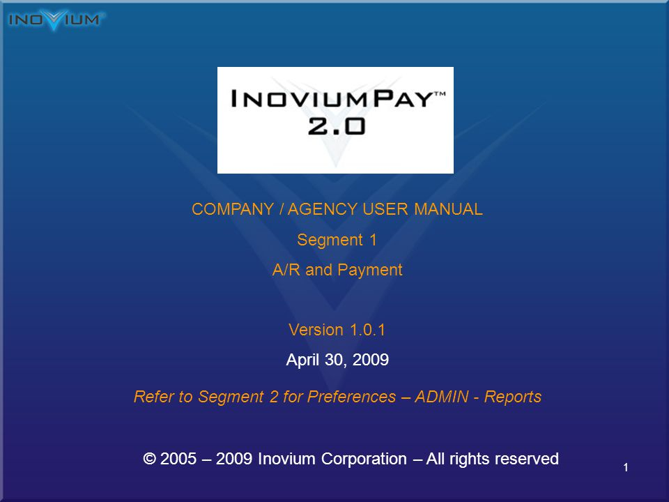 22 InoviumPay 2.0 – Add Charges to Payer (Invoice) If more then one item is to be added to invoice, manually change Items on invoice Default Item is set to 1 – If you are entering more then one item just enter the number of invoice lines