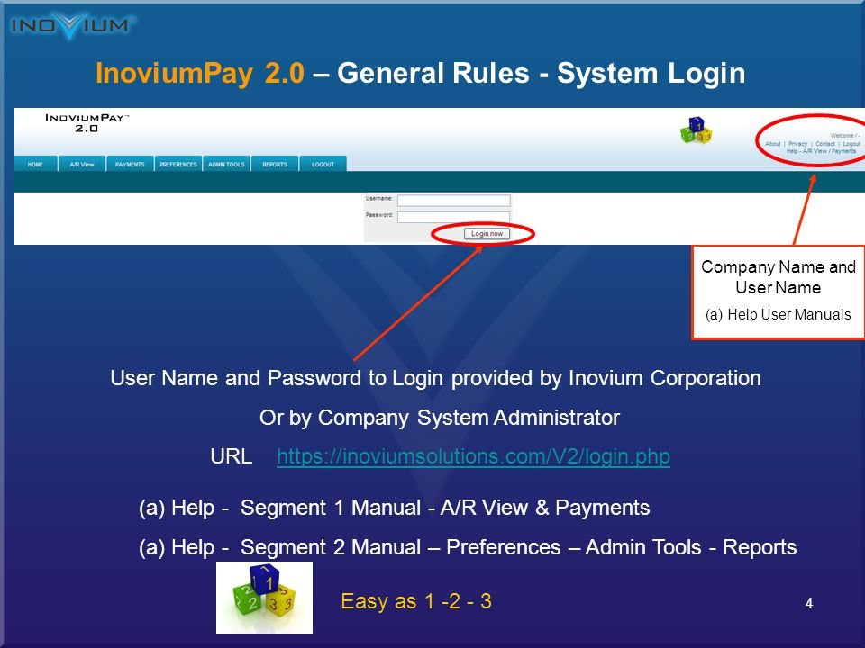 5 InoviumPay 2.0 – General Rule Standard Access – Specific Payer Search Step 1 – Click here to Select Payer