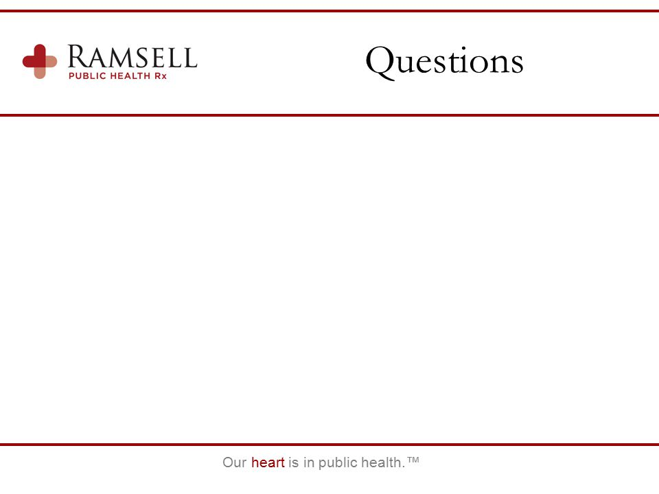 Our heart is in public health.™ Questions