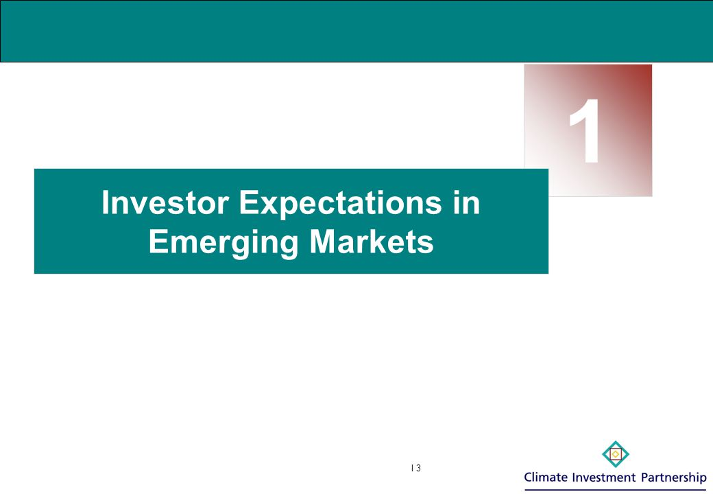 I 4  Emerging markets offer major opportunities for Renewable Energy projects  In the best markets (for example: China, India, Brazil, Chile, Mexico, Korea, Thailand, Philippines) common characteristics of good potential include:  Huge and growing energy demand (e.g.
