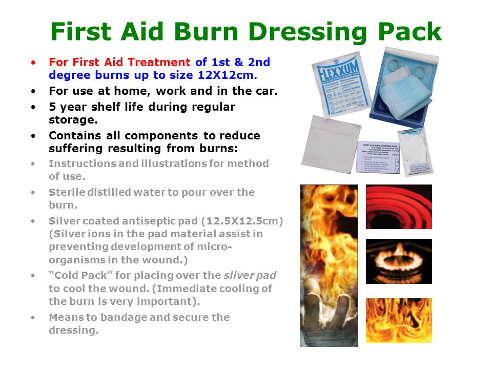 First Aid Burn Dressing Pack For First Aid Treatment of 1st & 2nd degree burns up to size 12X12cm.