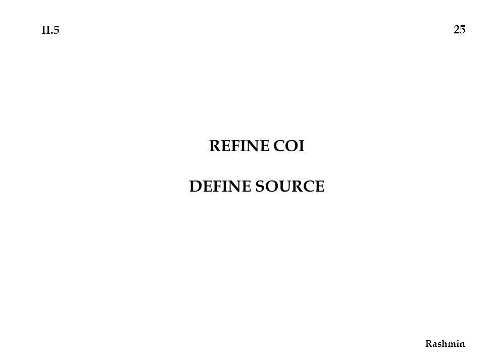REFINE COI DEFINE SOURCE Rashmin 25 II.5