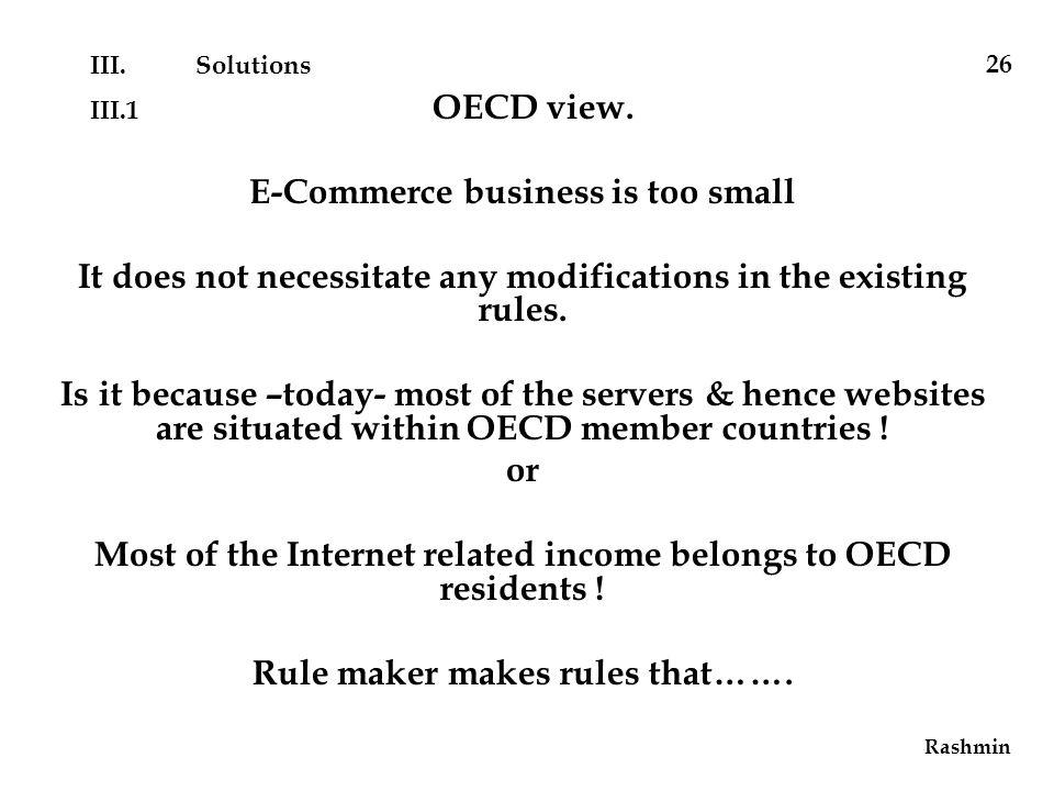 III.1 OECD view.