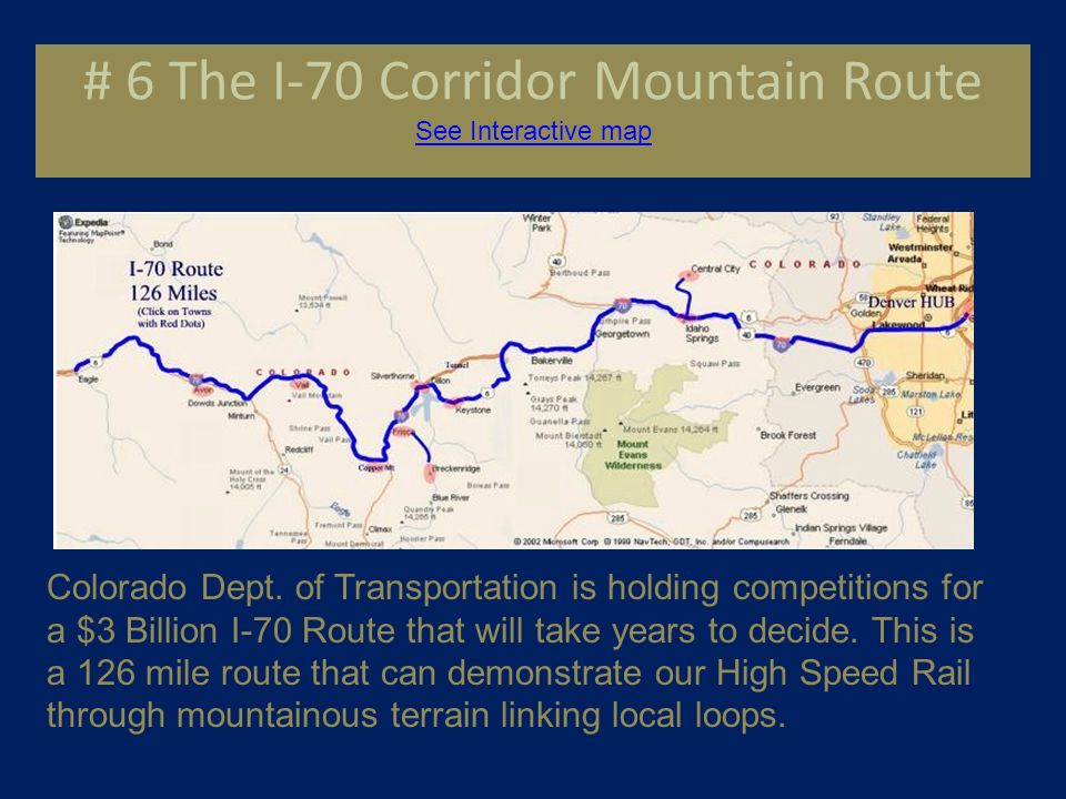 Other Studied Sales Opportunities See a $128 Million Route See a $231 Million Route # 4 Branson, Missouri- A 6.6 mile route.