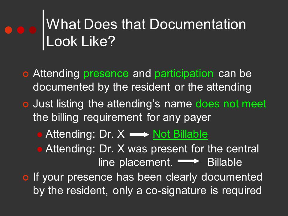What Does that Documentation Look Like.