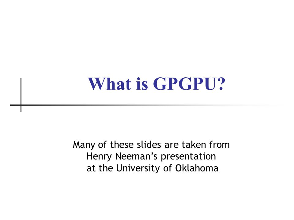 What is GPGPU.