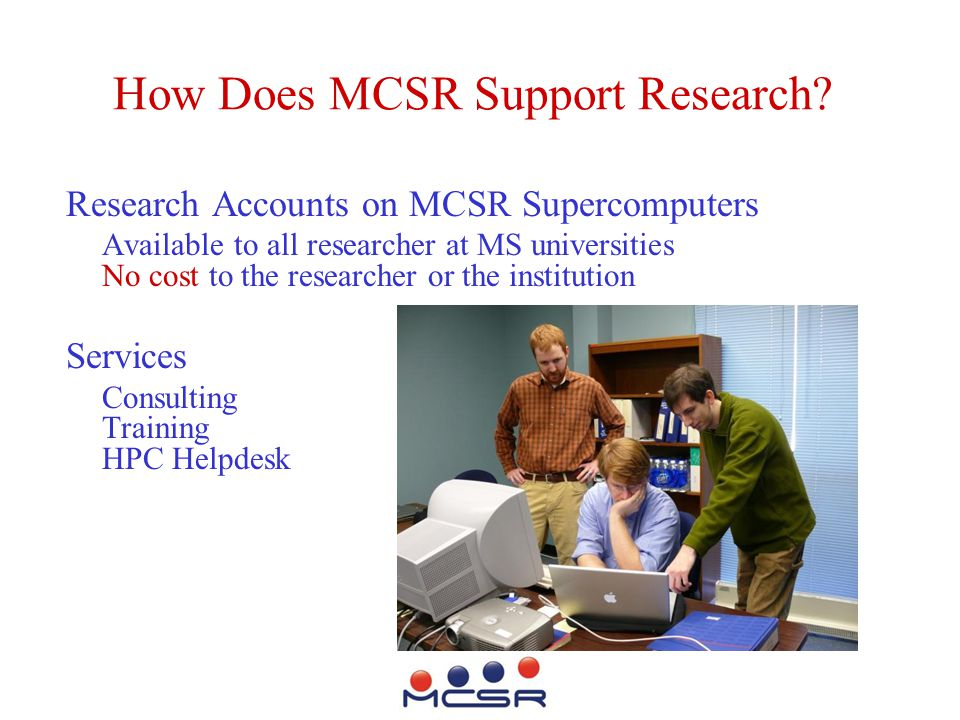 How Does MCSR Support Research.