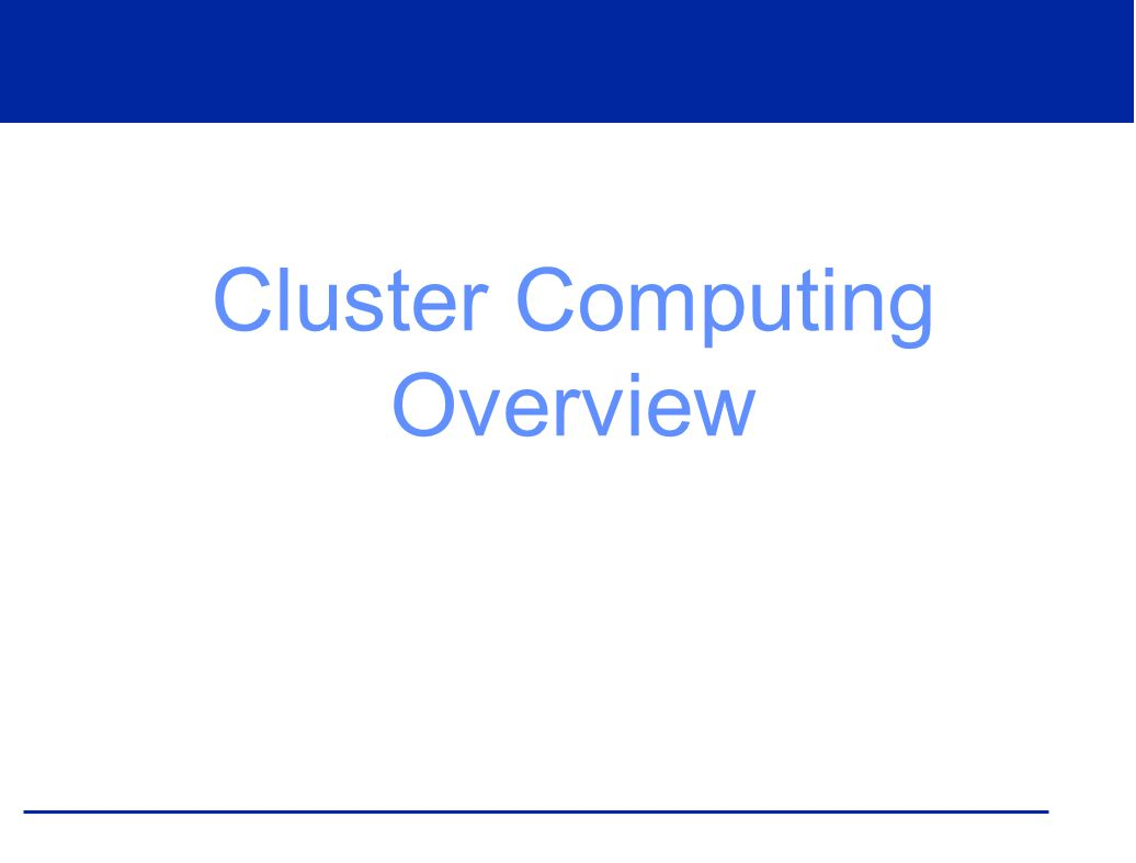 What is a Cluster.
