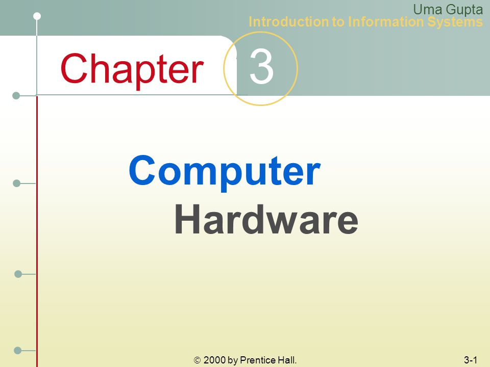 Chapter 3 Uma Gupta Introduction to Information Systems  2000 by Prentice Hall.