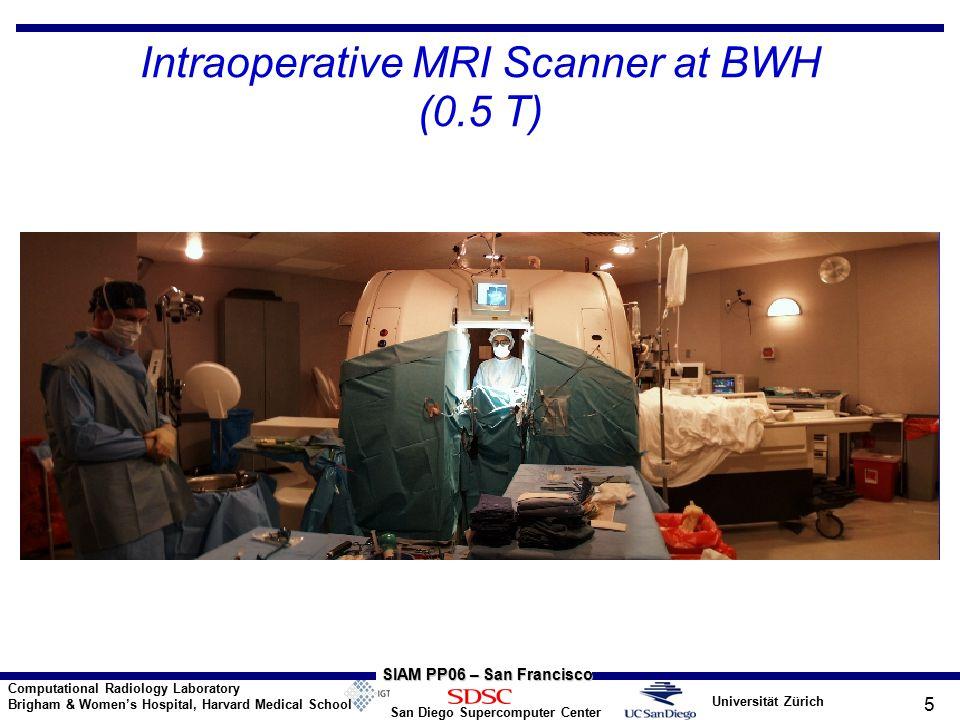 Universität Zürich San Diego Supercomputer Center Computational Radiology Laboratory Brigham & Women's Hospital, Harvard Medical School SIAM PP06 – San Francisco 5 Intraoperative MRI Scanner at BWH (0.5 T)