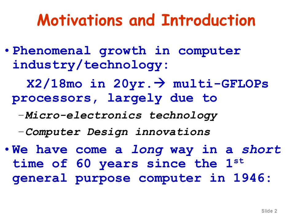 Slide 32 Example of Computing CPU time If a computer has a clock rate of 2 GHz, how long does it take to execute a program with 1,000,000 instructions, if the CPI for the program is 3.5?