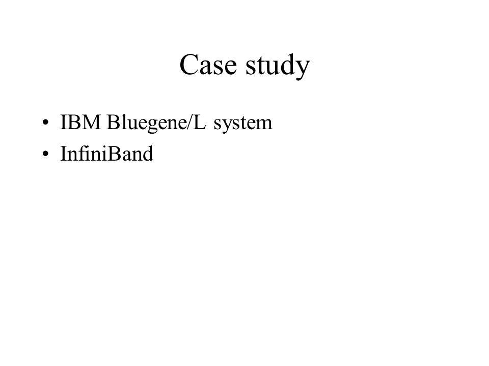 Case study IBM Bluegene/L system InfiniBand