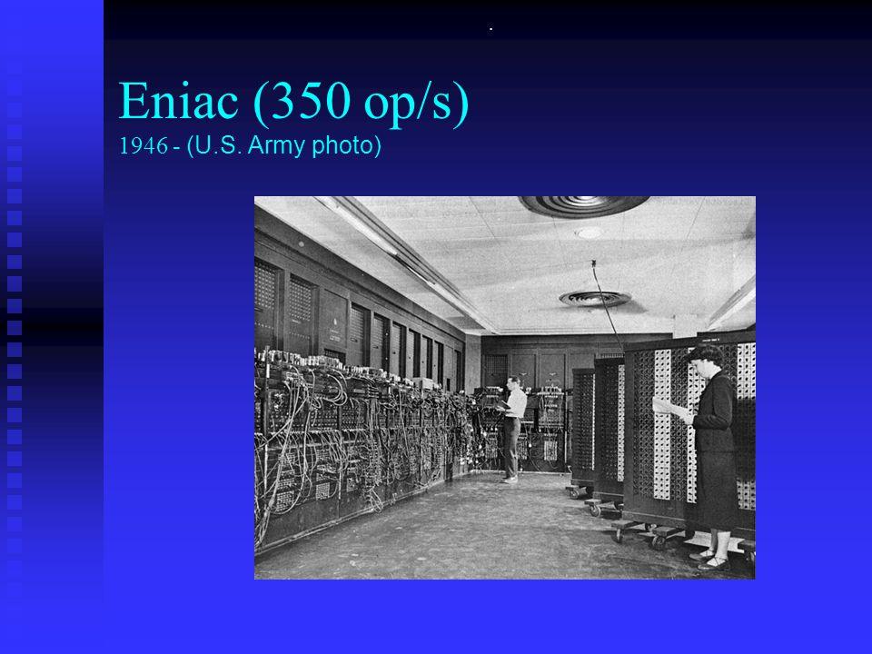 . Eniac (350 op/s) 1946 - (U.S. Army photo)