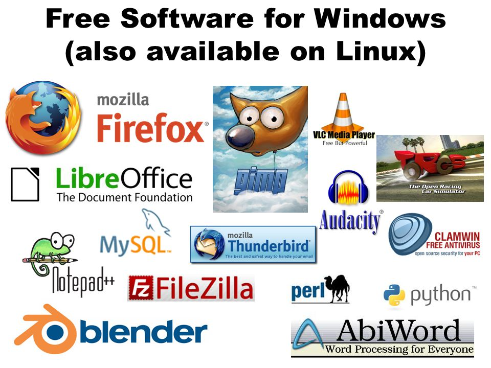 Free Software for Windows (also available on Linux)