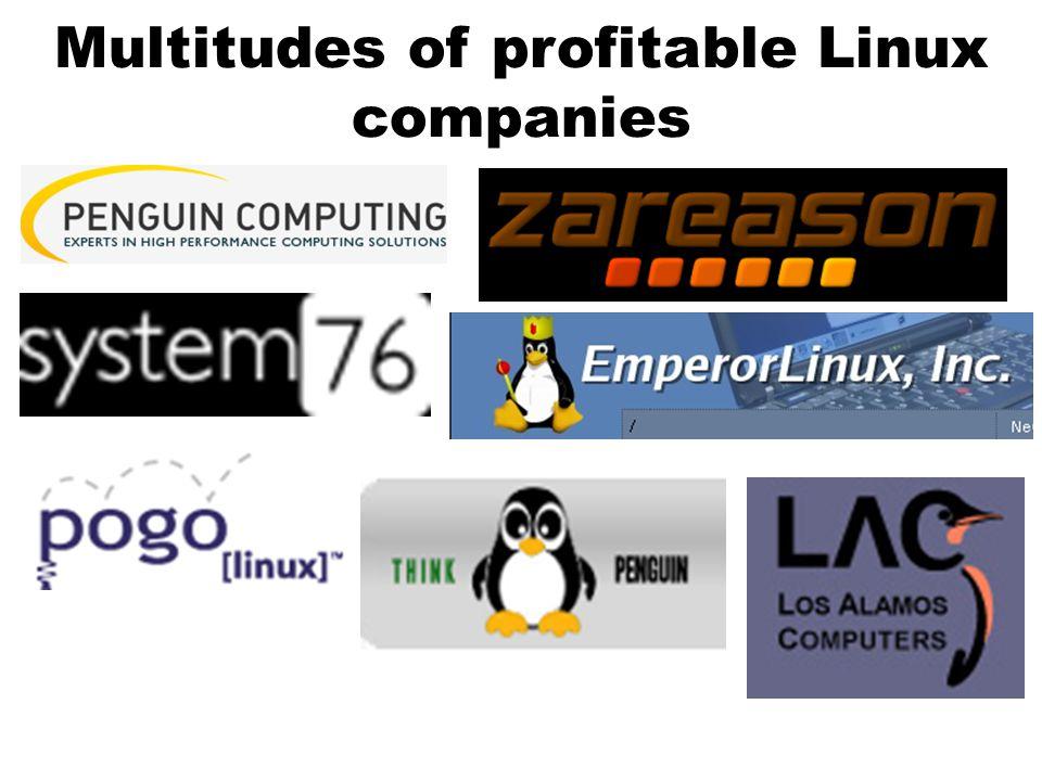 Multitudes of profitable Linux companies