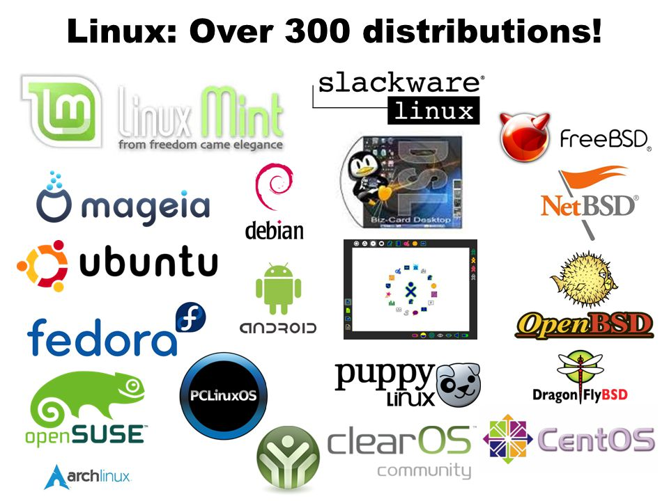 Linux: Over 300 distributions!
