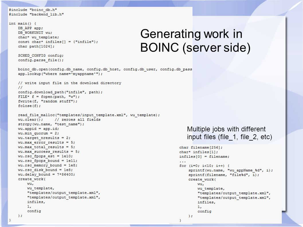 Generating work in BOINC (server side) Multiple jobs with different input files (file_1, file_2, etc)