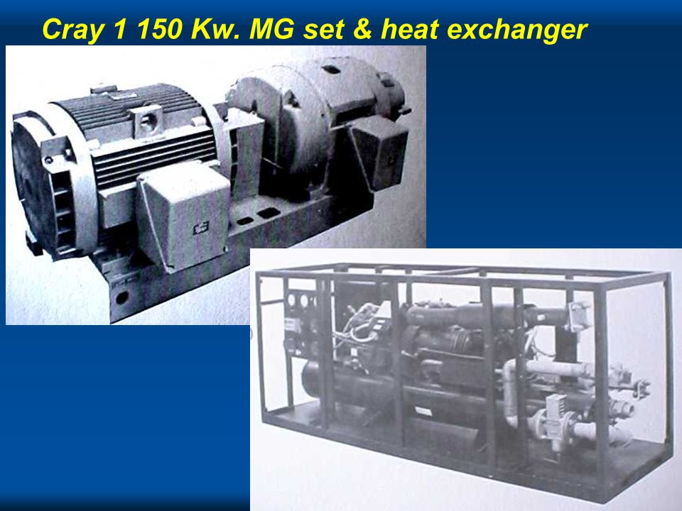 Cray Cray 1 150 Kw. MG set & heat exchanger