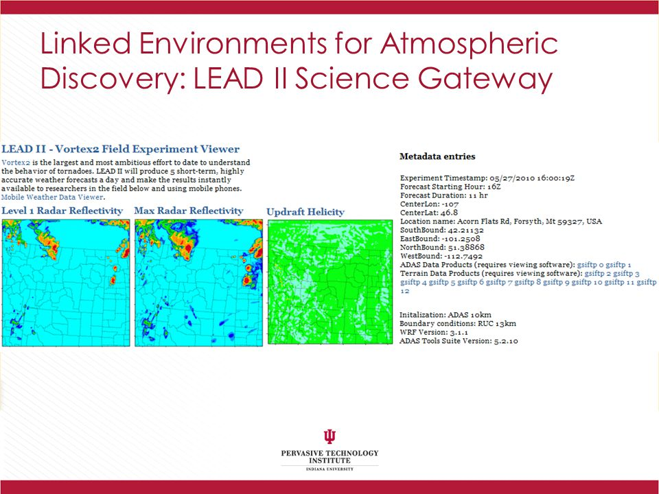Linked Environments for Atmospheric Discovery: LEAD II Science Gateway