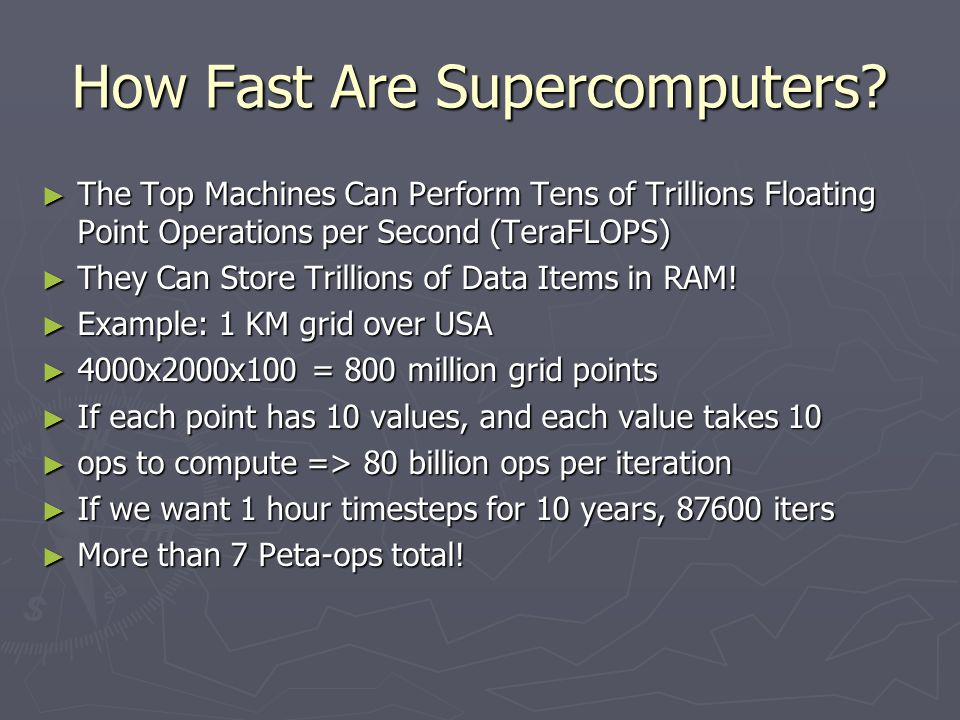 How Fast Are Supercomputers.