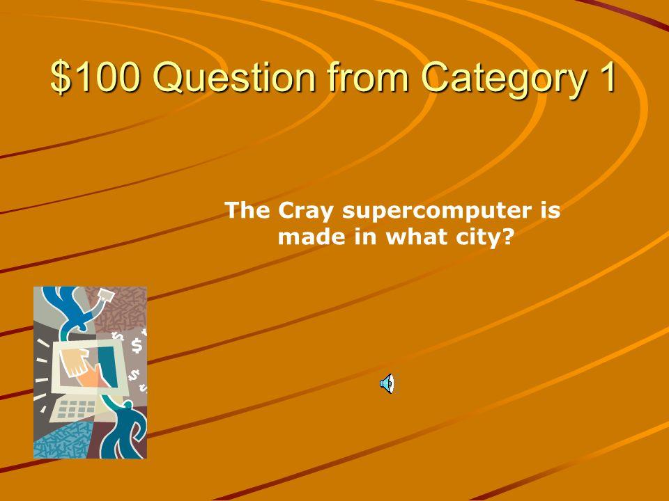 Computer Categories AcronymsComputer Components Software Information Systems Q $100 Q $200 Q $300 Q $400 Q $500 Q $100 Q $200 Q $300 Q $400 Q $500 Final JeopardyJeopardy