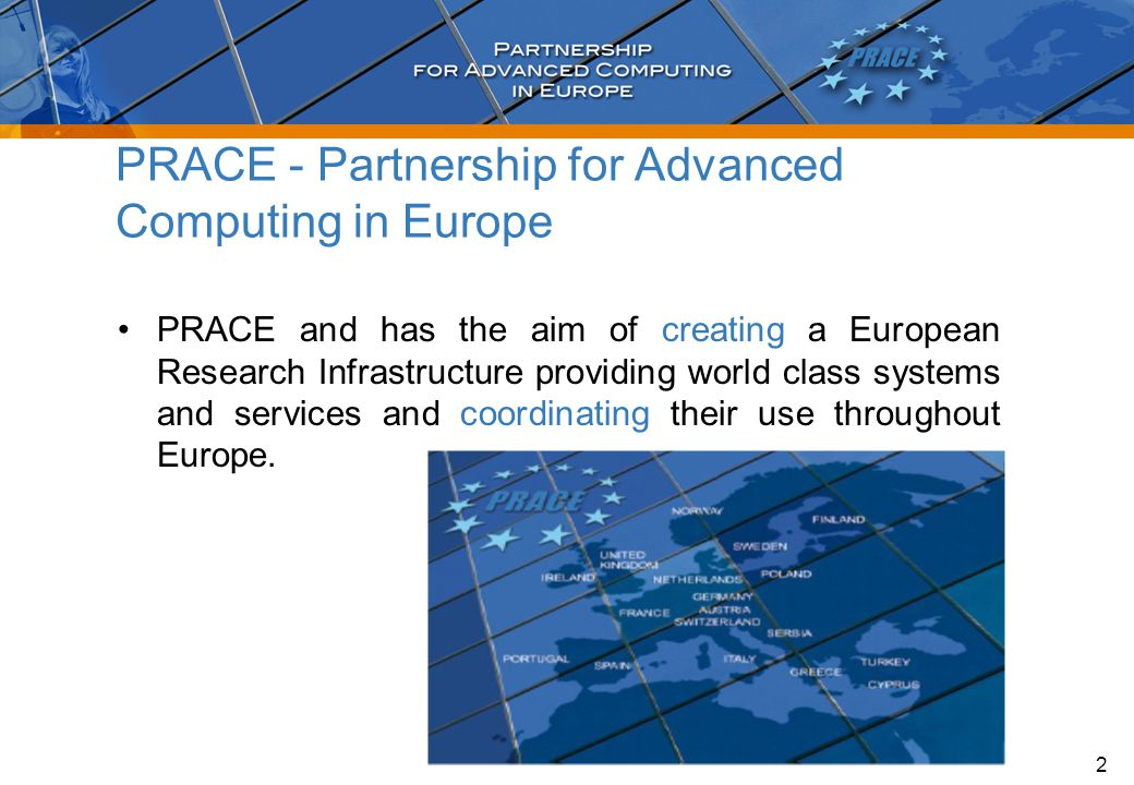 PRACE-2IP HPCEURHET PRACE History – An Ongoing Success Story 3 20042005200620072008 Creation of the Scientific Case HPC part of the ESFRI Roadmap; creation of a vision involving 15 European countries Signature of the MoUCreation of the PRACE Research Infrastructure PRACE RI 2009201020112012 PRACE Initiative PRACE Preparatory Phase Project PRACE-1IP PRACE-3IP 2013